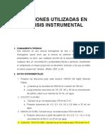 SOLUCIONES UTILIZADAS EN ANÁLISIS INSTRUMENTAL