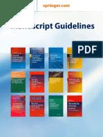 Springer Manuscript Style Guide