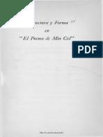 Estructura y Forma en El Poema de Mi-o Cid.