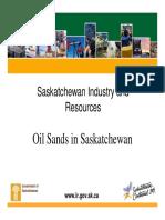 Oil Sands in Saskatchewan