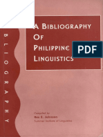 A Bibliography of Philippine Linguistics 1996