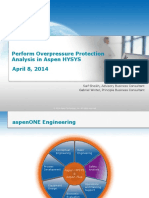 Perform Overpressure Protection Analysis in Aspen HYSYS Final Presentation-MENA