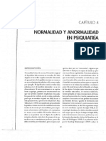 Normalidad y Anormalidad en Psiquiatría (Obligatorio)