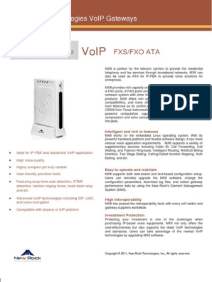 VOIP Gateway Newrock MX8 | Voice Over Ip | Session Initiation Protocol