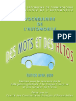 Vocabulaire de l'automobile
