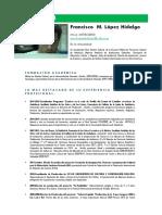 Curriculum Fco. López Edit. (Junio -2015)