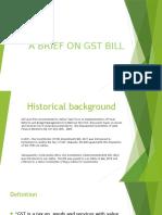 A brief on GST Bill