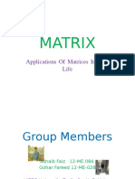 Applications of Matrices in Real Life