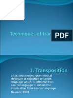 Techniques of Translation
