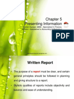 Chapter 5 Presenting Information