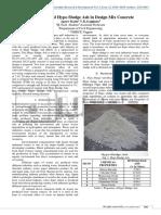 Optimization of Hypo Sludge Ash in Design Mix Concrete