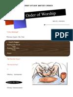 Order of Worship 05 23 2010 v1