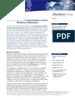 Aberdeen Group – Asset Management Predictief Onderhoud Stimuleren Met Behulp Van Analytics