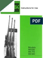 HK 630 770 and 940 Manual