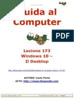 Guida al Computer - Lezione 173 - Windows 10 – Il Desktop