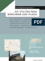 Kelompok 1 - Analisis Utilitas Pada Bangunan (Ave Plaza)