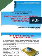 modelo digital de terreno y cuencas hidrograficas
