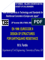 En 1998- Eurocode 8 Design of Structures Design of Structures for Earthquake Resistance for Earthquake Resistance