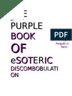 THE big PURPLE BOOK OF eSOTERIC DISCOMBOBULATI ON