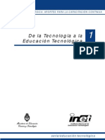 1- De la Tecnología a la Educación Tecnológica