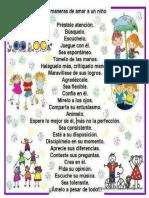 25 Maneras de Amar a Un Niño.