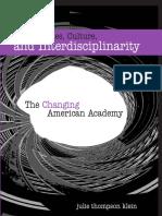 Humanities, Culture, And Interdisciplinarity