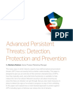 SOPHOS - Advanced Persistent Threats, Detection, Protection and Prevention
