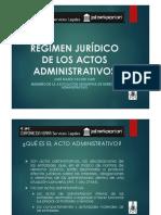 Régimen Jurídico de Los Actos Administrativos - Autor José María Pacori Cari