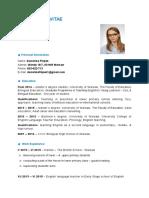 cv - primary school - dominika filipek