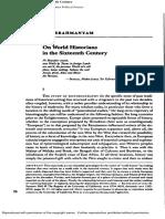 Subrahmanyam World Historians in the Sixteenth Century