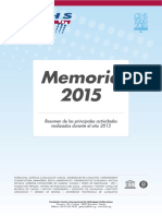 Memoria FCIHS 2015