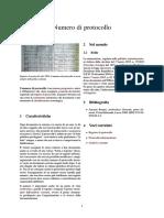 Numero Di Protocollo