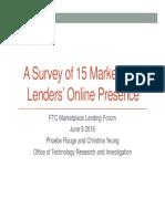 A Survey of 15 Marketplace Lenders Online Presence