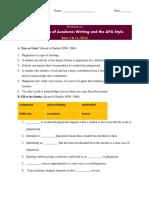 Exercise_Plagiarism and Citation