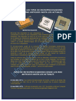Analisis de Los Tipos de Microprocesadores Desde Los Mas Antiguos Hasta Los Actuales
