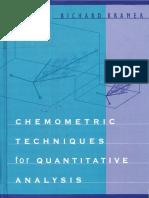 Gemometric Techniques for Quantitative Analysis 1998 - Kramer