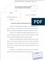 Stacy Sawin Federal Court Motion for Preliminary Injunction