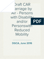 20160611 DRAFT DGCA CAR Passengers With Reduced Mobility