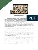 AC/DC Manchester Etihad Stadium June 2016