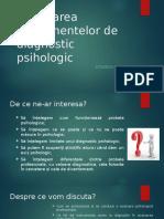 Elaborarea Instrumentelor de Diagnostic Psihologic