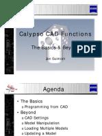 Calypso CAD Functions