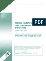 GARCÏA ROCA, Joaquín, Relatos, Metáforas y Dilemas