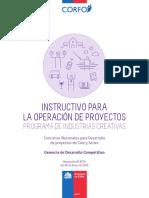 Instructivo Operación de Proyectos Industrias Creativas