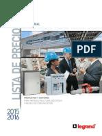 Lista de Precios Industria Legrand 2015