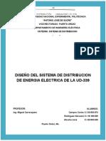 DISEÑO DEL SISTEMA DE DISTRIBUCIÓN DE ENERGÍA ELÉCTRICA DE LA UD-339