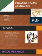 Los Datos Primarios y Secundarios