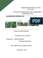 Hidraulica Rural o Agricola