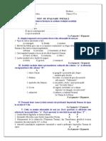 0 Test de Evaluare Initiala Clasa a Via