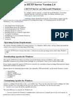 Using Apache HTTP Server on Microsoft Windows - Apache HTTP Server Version 2