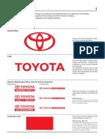 Normas Uso Logotipo Toyota